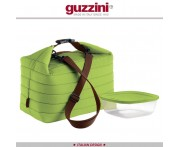 Ланч-бокс Handy с термосумкой большой, зеленый, Guzzini, Италия