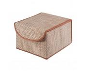 Коробка для хранения с крышкой коричневая bo-012, Casy Home