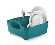 Сушилка для посуды Tub бирюзовая, L 18 см, W 35 см, H 19 см, Umbra, Канада