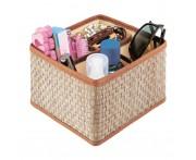 Органайзер для косметики и бижутерии 4 ячейки коричневый or-012, Casy Home