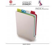 Набор разделочных досок Index Compact в кейсе серебристый, 5 предметов, Joseph Joseph, Великобритания