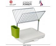 Сушилка Y-Rack для посуды и столовых приборов со сливом, белая, Joseph Joseph, Великобритания