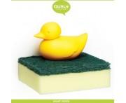 Держатель Duck для губки, настенный, желтый, Qualy, Таиланд