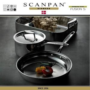 Сковорода Fusion5, D 28 см, индукционное дно, сталь 18/10, SCANPAN, Дания, арт. 87927, фото 2