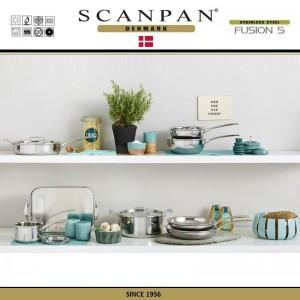 Сковорода Fusion5, D 28 см, индукционное дно, сталь 18/10, SCANPAN, Дания, арт. 87927, фото 8