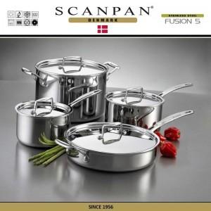 Сковорода Fusion5, D 28 см, индукционное дно, сталь 18/10, SCANPAN, Дания, арт. 87927, фото 7