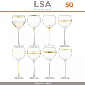 Бокалы Deco для вина с золотым декором, выдувное стекло,  8 шт по 525 мл, LSA, арт. 86959, фото 9