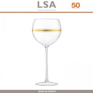 Бокалы Deco для вина с золотым декором, выдувное стекло,  8 шт по 525 мл, LSA, арт. 86959, фото 8