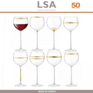 Бокалы Deco для вина с золотым декором, выдувное стекло,  8 шт по 525 мл, LSA, арт. 86959, фото 1