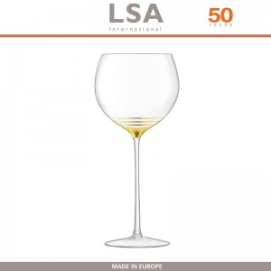 Бокалы Deco для вина с золотым декором, выдувное стекло,  8 шт по 525 мл, LSA, арт. 86959, фото 5
