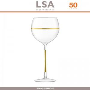 Бокалы Deco для вина с золотым декором, выдувное стекло,  8 шт по 525 мл, LSA, арт. 86959, фото 2