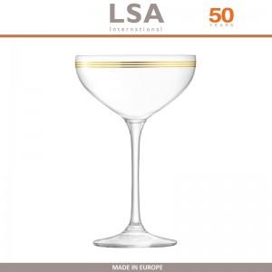 Бокалы Deco для шампанского с золотым декором, выдувное стекло,  8 шт по 235 мл, LSA, арт. 86958, фото 9