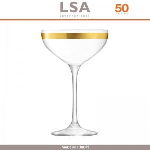 Бокалы Deco для шампанского с золотым декором, выдувное стекло,  8 шт по 235 мл, LSA, арт. 86958, фото 8