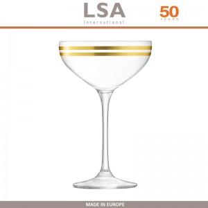 Бокалы Deco для шампанского с золотым декором, выдувное стекло,  8 шт по 235 мл, LSA, арт. 86958, фото 2