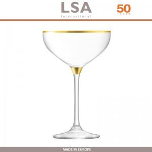 Бокалы Deco для шампанского с золотым декором, выдувное стекло,  8 шт по 235 мл, LSA, арт. 86958, фото 7
