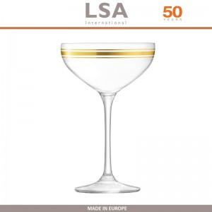 Бокалы Deco для шампанского с золотым декором, выдувное стекло,  8 шт по 235 мл, LSA, арт. 86958, фото 5