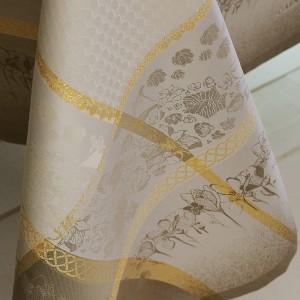 Скатерть 174х254 см, 100% хлопок с отталкивающим эффектом, цвет какао, серия Perce-Neige, GARNIER-THIEBAUT, Франция, арт. 1233, фото 3