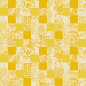 Скатерть 175x250 см, 100% хлопок с пропиткой, цвет солнечный, декор Sunny, серия Mille Birds, GARNIER-THIEBAUT, Франция, арт. 1210, фото 2