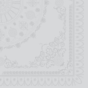 Скатерть 174x304 см, 100% хлопок с отталкивающим эффектом, цвет белый, декор Diamant, серия Eloise, GARNIER-THIEBAUT, Франция, арт. 1191, фото 3