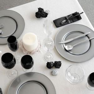 Тарелка подстановочная, 34см, стекло, цвет - темно-серый металлик, серия Aria, IVV, Италия, арт. 1280, фото 3