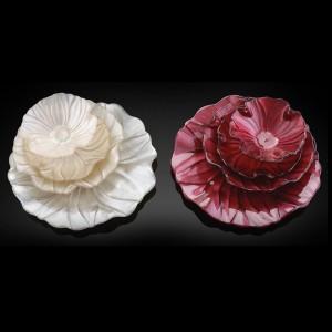 Тарелка десертная, 22 см, стекло, красная, серия Magnolia, IVV, Италия, арт. 1323, фото 2