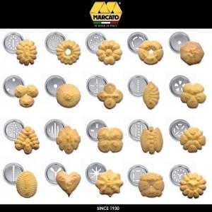 Шприц Biscotto для печенья, 20 насадок, цвет красный, Marcato, Италия, арт. 24366, фото 2