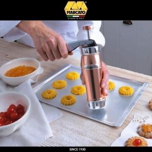 Шприц Biscotto для печенья, 20 насадок, цвет красный, Marcato, Италия, арт. 24366, фото 4