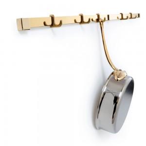 Держатель для навески 90 см и 5 крючков, латунь, серия M'plus, MAUVIEL, Франция, арт. 2070, фото 2
