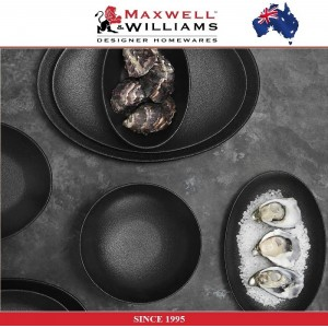 Обеденная тарелка Caviar цвет гранит, 27 см, фарфор, Maxwell & Williams, арт. 92481, фото 3