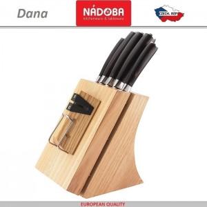 Набор из 5 кухонных ножей и блока для ножей с ножеточкой, нержавеющая сталь 18/10, серия  Dana, Nadoba, Чехия, арт. 36409, фото 3