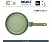 Сковорода Dr.Green INDUCTION, D 28 см, индукционное дно, антипригарное покрытие GREENSTONE®, Risoli, Италия