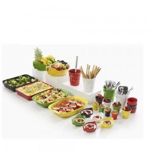Блюдо вдля запекания и подачи, 2 л, 34x22х7 см, цвет красный, фарфор, серия Happy cuisine, REVOL, Франция, арт. 2501, фото 8