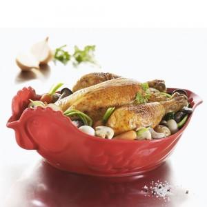 Блюдо вдля запекания и подачи, 2 л, 34x22х7 см, цвет красный, фарфор, серия Happy cuisine, REVOL, Франция, арт. 2501, фото 2