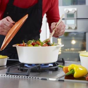 Кастрюля керамическая Revolution, 3.4 л, для любых плит и духовки, красный, REVOL, Франция, арт. 2531, фото 2
