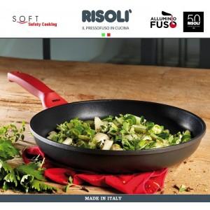 Антипригарная литая сковорода Soft Safety Cooking, D 28 см, Risoli, Италия, арт. 89297, фото 3