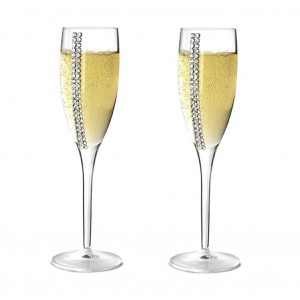 Набор бокалов для шампанского Regina Swarovski, 2 шт по 260 мл, Chinelli, Италия, арт. 18838, фото 3