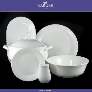 Сахарница Silky, 1.2 л, костяной фарфор, NARUMI, арт. 87353, фото 3
