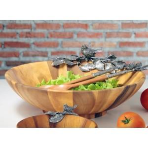 Салатник, ручная работа, дерево, D 40 см, серия Song Bird, Vagabond House, США, арт. 22455, фото 4