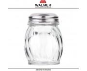 Баночка WAVE для специй, 150 мл, стекло прозрачное, сталь, Walmer