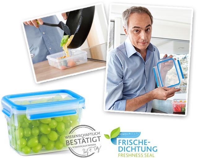 Герметичный контейнер для хранения CLIP & CLOSE, прямоугольный, 3,7 л, L 26,3 см, W 19,5 см, H 11 см, пищевой пластик, Emsa, Германия