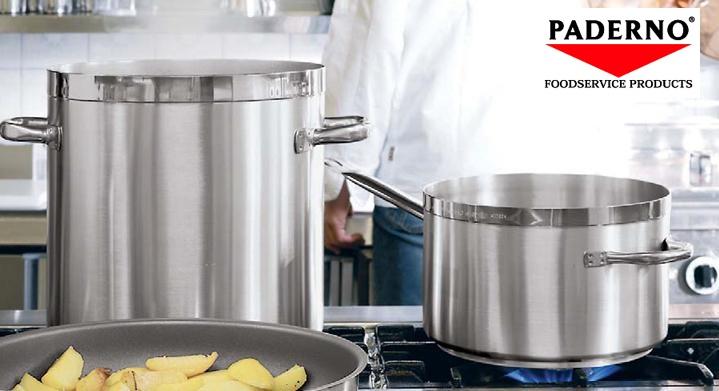 Сковорода 3-х слойная, D 36 см, H 65 см, сталь нержавеющая, Serie 2500, Paderno, Италия