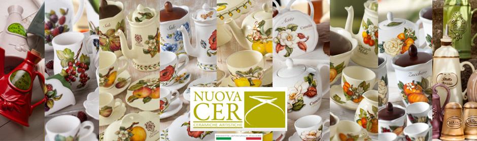 Чашка с блюдцем Итальянские фрукты, 300 мл, Nuova Cer, Италия