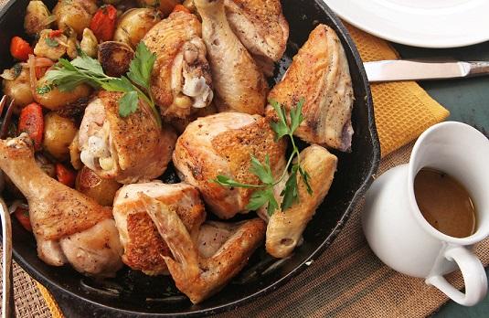 Сковорода для запекания и подачи рыбы, H 4,5 см, L 48,5 см, W 19,3 см,  чугун, Wells, Китай