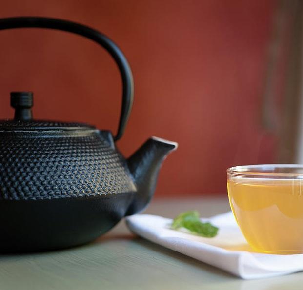 Чайник чугунный со съемным ситечком, 580 мл, D 8,7 см, чугун литой, сталь, Wells
