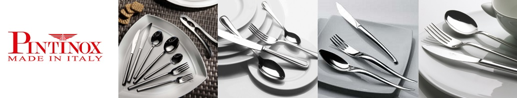 Набор столовых приборов на 6 персон, 24 предмета, сталь нержавеющая, пластик, цвет береза, серия Sushi Queen, 18/10, Pintinox, Италия