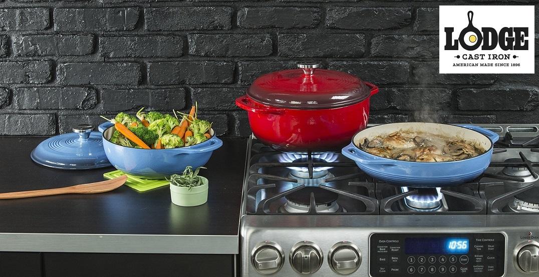 Сковорода-гриль квадратная, 26 x 26 см,, чугун, эмаль, Lodge, США.